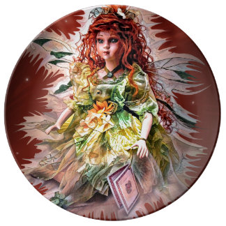 This is a Fairy porcelain plate by Artful Oasis.