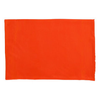 This is a Pair of Orange Pillow Cases. Pillowcase