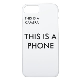 """""""This is a Phone"""" Phonecase iPhone 8/7 Case"""