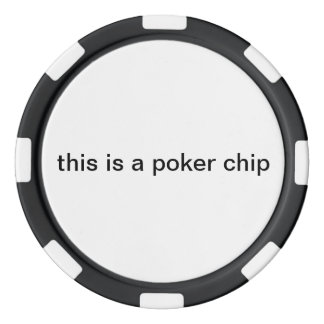 """""""this is a poker chip"""" poker chip"""