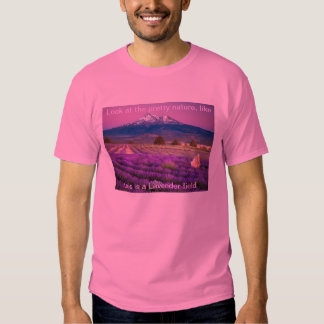 This is a pretty view about a Lavender field. Tees