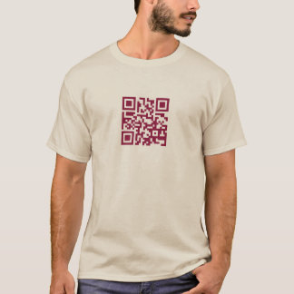 this is a QR code... dark raspberry T-Shirt