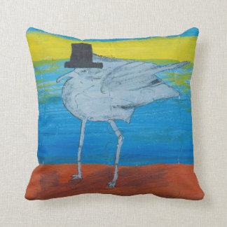 This is a small pillow, Seagull leader. Throw Pillow