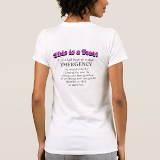 This is a Test T-shirts (back), Purple text