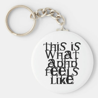 This is ADHD Basic Round Button Keychain
