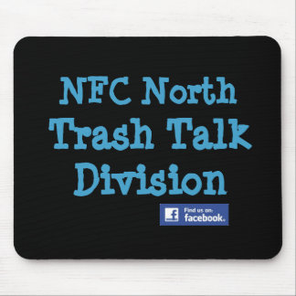"This is an Official NFC North ""Trash Talk Division Mouse Pad"