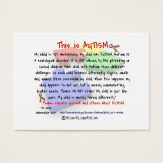 This is Autism Handout Cards