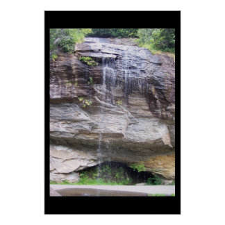 This is Bridal Veil Falls in NC Mountains. Poster