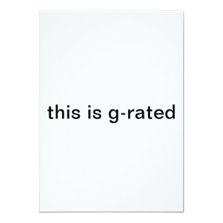 this is g-rated card