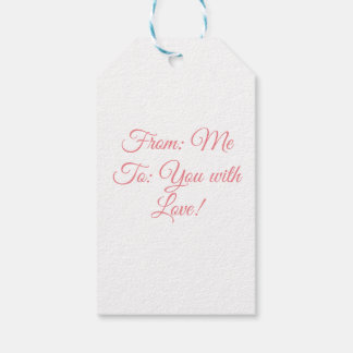 This is great for any gift given with love! gift tags