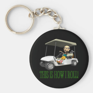 This Is How I Roll Basic Round Button Keychain