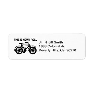 This Is How I Roll Bicycle Return Address Label