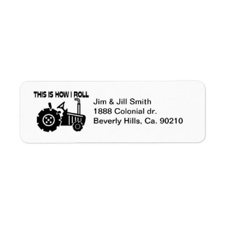 This Is How I Roll Farming Tractor Return Address Label