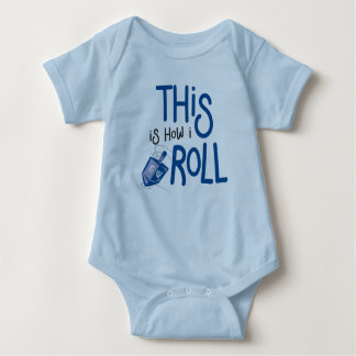 This is how I roll Hanukkah Baby Outfit Baby Bodysuit