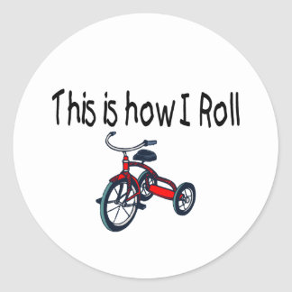 This Is How I Roll (Red Tricycle) Stickers