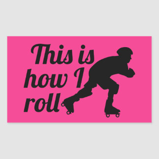 This is how I roll, Roller Derby skater Sticker
