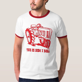 This Is How I Roll Tractor RED Shirt