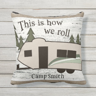 This is How We Roll Outdoor Pillow