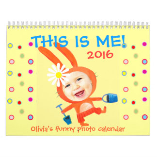 this is me kids funny personalized photo 2016 calendar