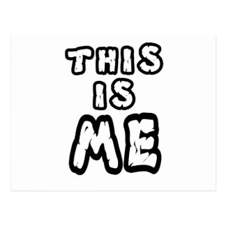 this is me postcard