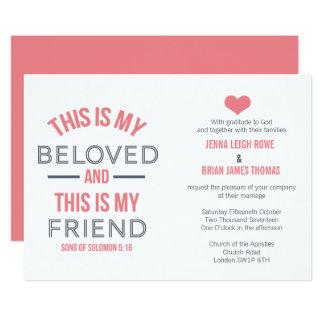 This is My Beloved Wedding Invitation