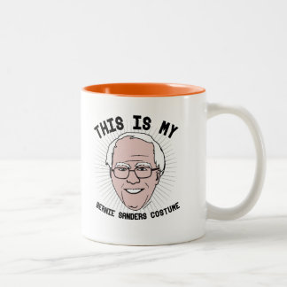 This is my Bernie Sanders Costume -- Election 2016 Two-Tone Coffee Mug