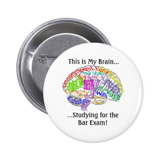 This is my brain...Bar Exam 2 Inch Round Button