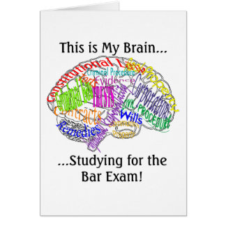 This is my brain...Bar Exam Greeting Card