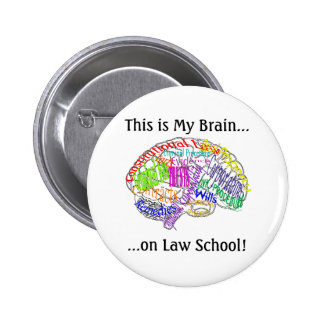 This is my brain...Law School 2 Inch Round Button