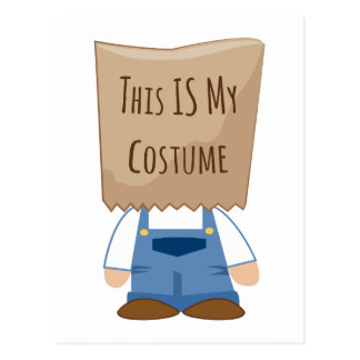 This Is My Costume Postcard
