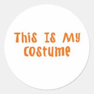 This Is My Costume Round Sticker