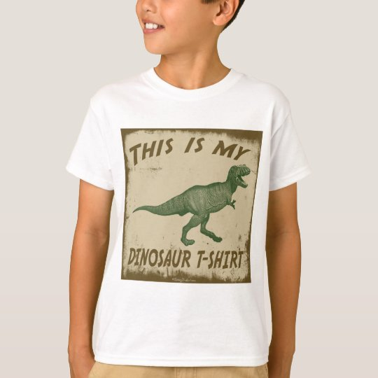 THIS IS MY DINOSAUR T-SHIRT