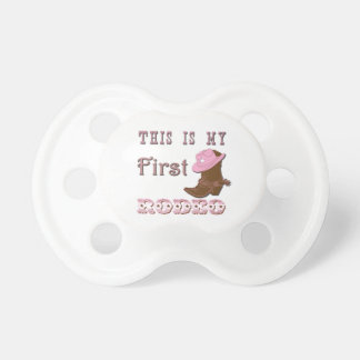 This is my first rodeo girl baby pacifier