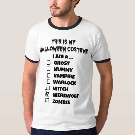 This is My Halloween Costume - Check Mark Werewolf T-Shirt