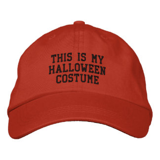This is my Halloween Costume Embroidered Hat