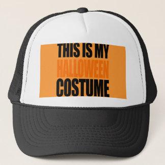 THIS IS MY HALLOWEEN COSTUME (orange) Trucker Hat