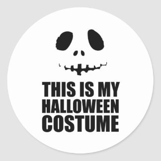 this is my Halloween costume Round Sticker