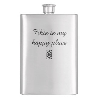 This Is My Happy Place Flasks