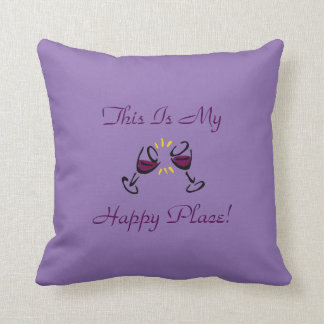 This Is My Happy Place! Lavender Throw Pillow