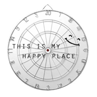 this is my happy place simple modern design dartboard