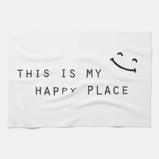 this is my happy place simple modern design hand towel
