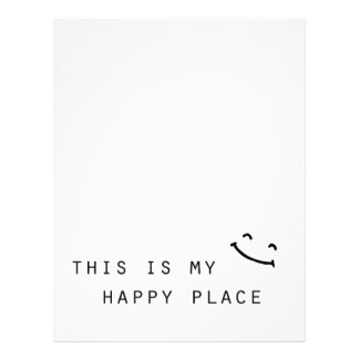 this is my happy place simple modern design letterhead