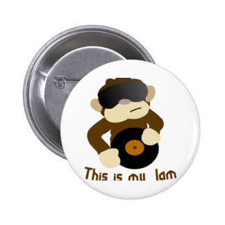This is my jam, Monkey 2 Inch Round Button