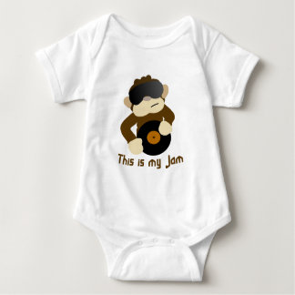 This is my jam, Monkey Baby Bodysuit