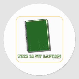 This is my laptop classic round sticker