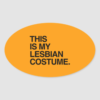 THIS IS MY LESBIAN COSTUME- - Halloween - png Stickers