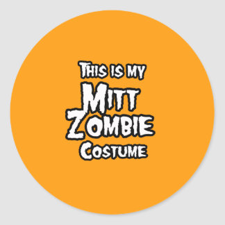 THIS IS MY MITT ZOMBIE COSTUME - Halloween - png Round Stickers