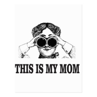 this is my mom postcard