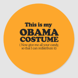 THIS IS MY OBAMA COSTUME - Halloween - png Round Sticker