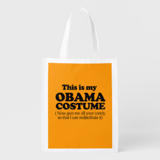 THIS IS MY OBAMA COSTUME - Halloween - png Reusable Grocery Bags